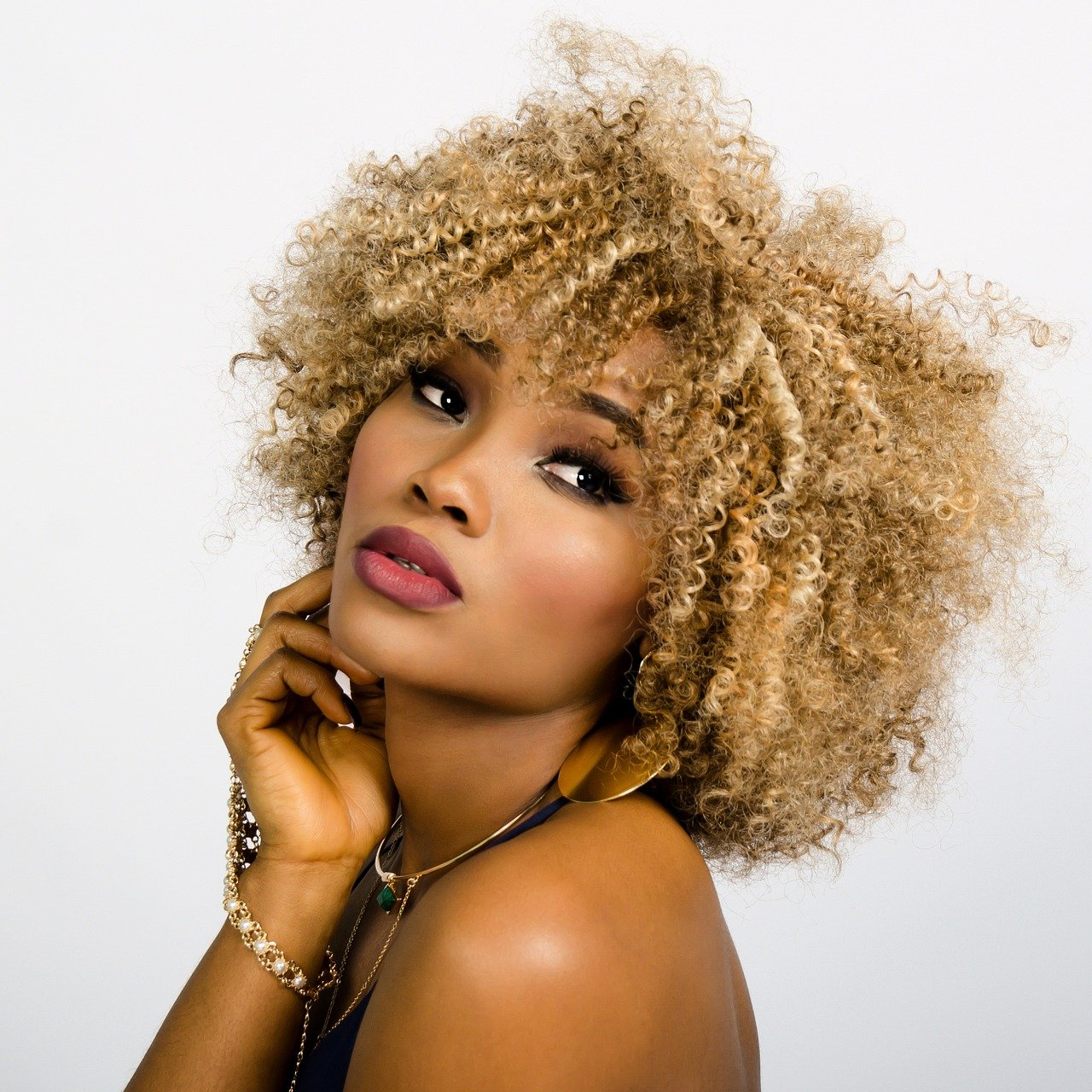 woman, beauty, curly